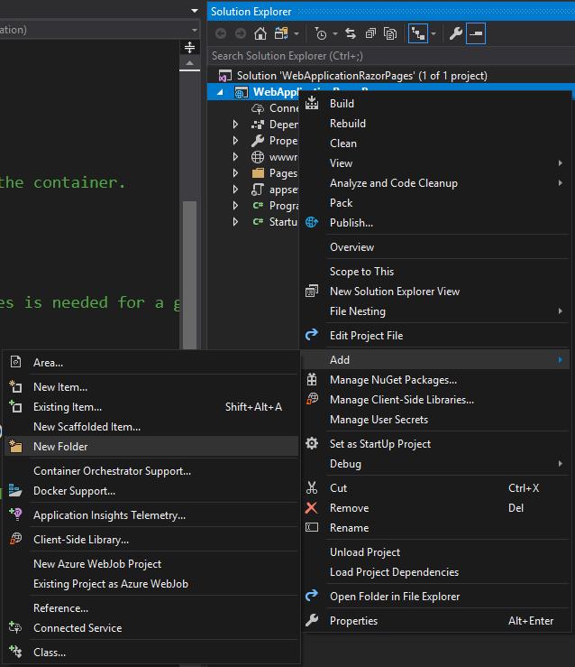 Как добавить папку в VisualStudio