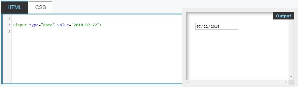 Тип date для элемента input